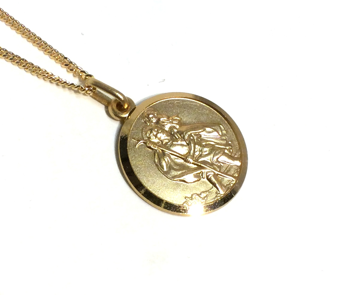 416268865f6 18mm Gold St. Christopher Necklace – Aspens Jewellers